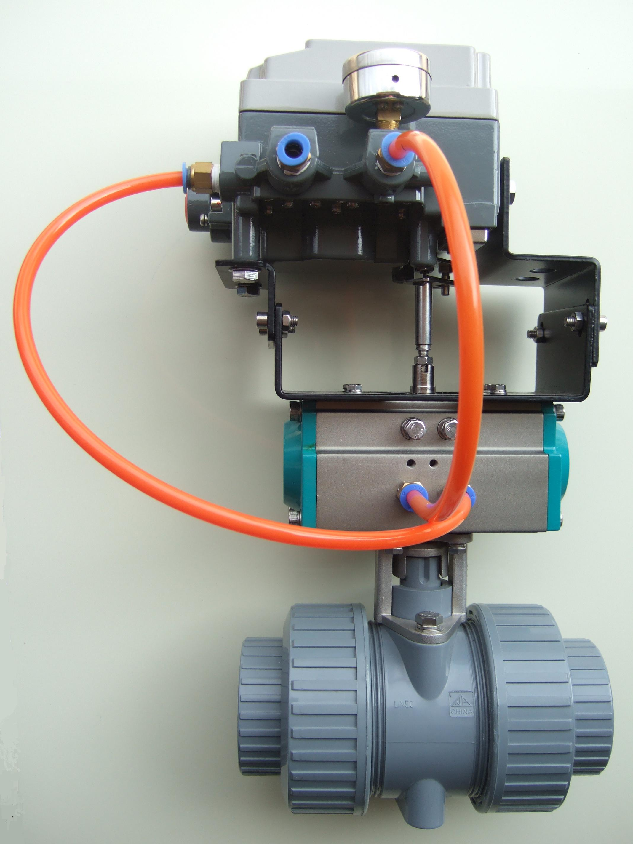 Pneumatic Rotary Actuator Butterfly Valve with Gearbox